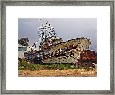 Old Trawler Framed Print by Jose Elias - Sofia Pereira