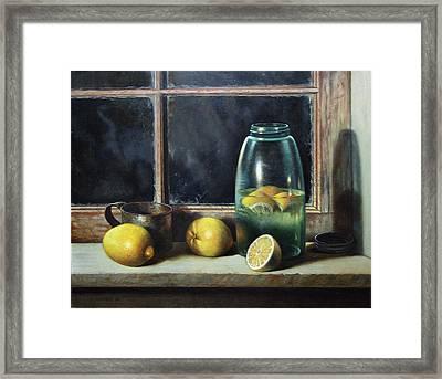 Old Tyme Lemonade Framed Print by William Albanese Sr