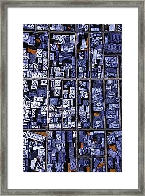 Old Typeface Framed Print by Garry Gay