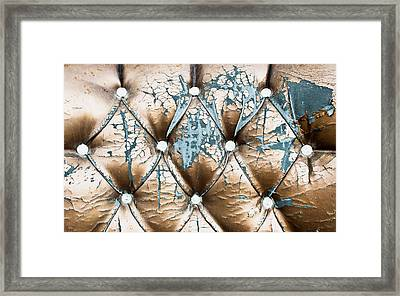 Old Upholstery Framed Print by Tom Gowanlock
