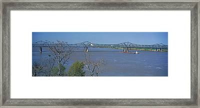 Old Vicksburg Bridge Crossing Ms River Framed Print by Panoramic Images