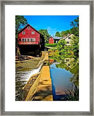 Old Village Grist Mill Framed Print by Colleen Kammerer
