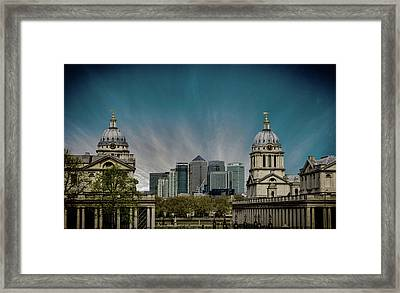 Old Vs New Framed Print by Martin Newman