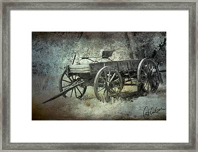 Old Wagon Framed Print by Christine Hauber