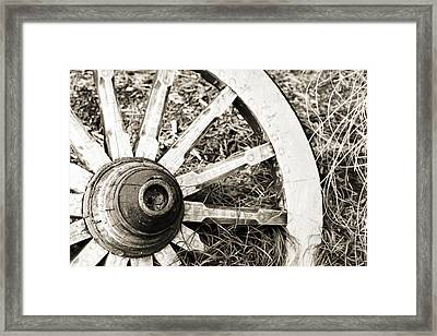 Old Wagon Wheel Framed Print by Marilyn Hunt