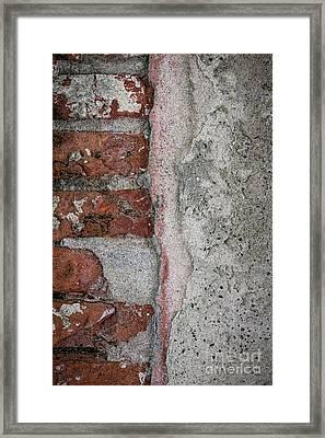 Old Wall Detail Framed Print by Elena Elisseeva