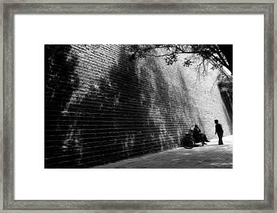 Old Wall Framed Print by Lian Wang