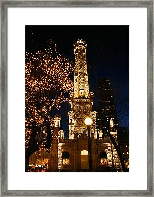 Old Water Tower, Intersection Framed Print by Panoramic Images