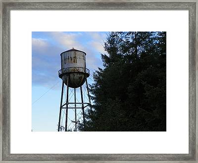 Old Water Tower Framed Print by Laurie Kidd