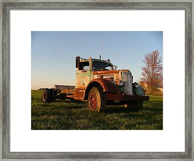 Old White Superpower II Framed Print by Julie Dant