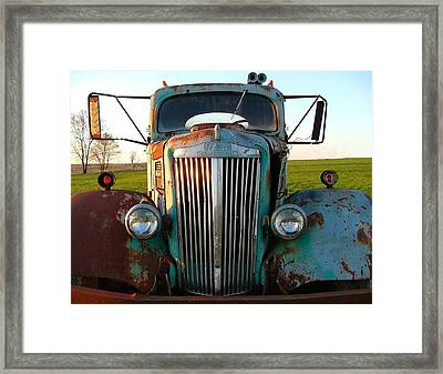 Old White Superpower IIi Framed Print by Julie Dant