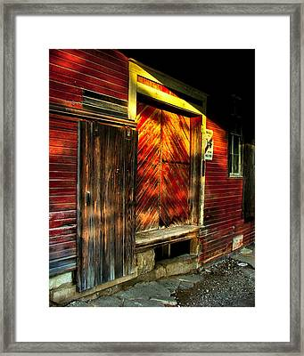 Old Williams Indiana Feed Mill Framed Print by Julie Dant
