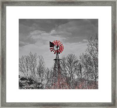 Old Wind Mill Framed Print by Robert Pearson