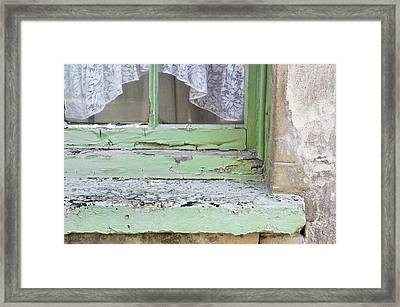 Old Windowsill Framed Print by Tom Gowanlock