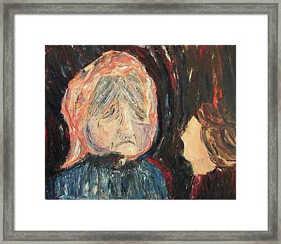 Old Woman Framed Print by Suzanne  Marie Leclair