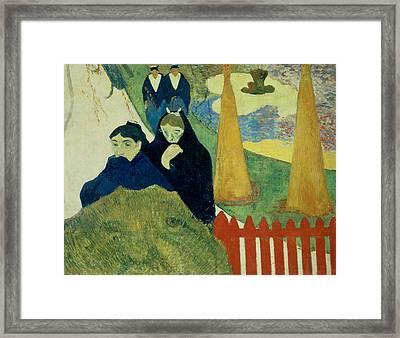 Old Women Of Arles Framed Print by Paul Gauguin