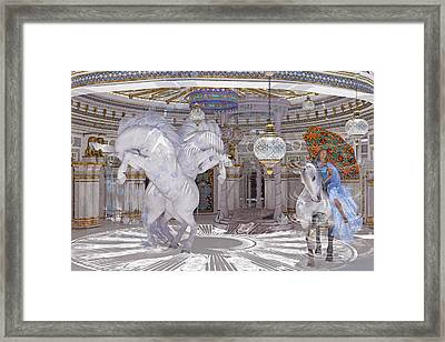 Old World Lipizzaners  Framed Print by Betsy Knapp