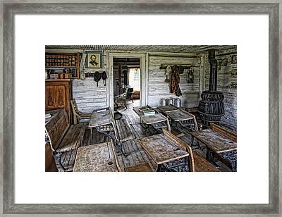 Oldest School House C. 1863 - Montana Territory Framed Print by Daniel Hagerman