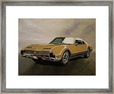 Oldsmobile Toronado 1965 Painting Framed Print by Paul Meijering