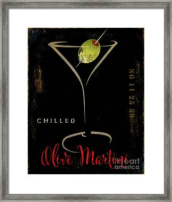 Olive Martini Framed Print by Mindy Sommers