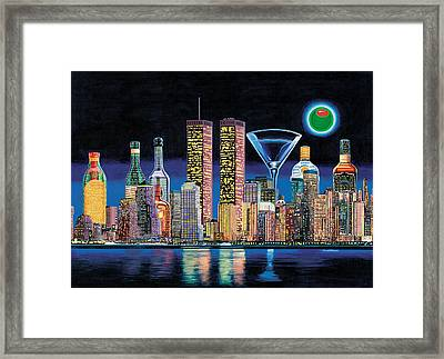 Olive Ny Framed Print by Tim Williams