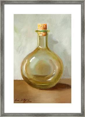 Olive Oil Bottle Still Life  Framed Print by Joni Dipirro
