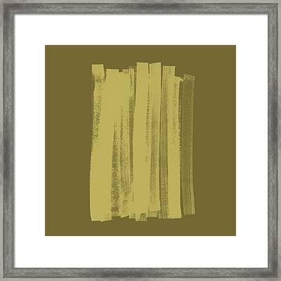 Olive On Olive 1 Framed Print by Julie Niemela