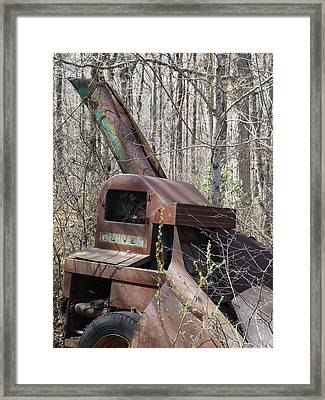 Oliver Corn Picker Antique Farm Machinery Framed Print by Cody Cookston