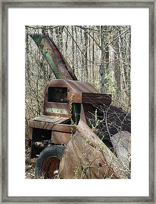 Oliver Corn Picker Antique Farm Machinery Iv Framed Print by Cody Cookston