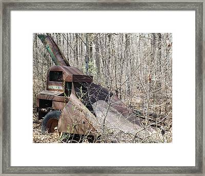 Oliver Corn Picker Antique Farm Machinery V Framed Print by Cody Cookston