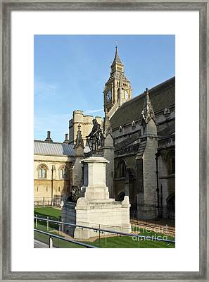 Oliver Cromwell Statue London Framed Print by Terri Waters