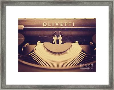 Olivetti Typewriter Framed Print by Giuseppe Expo