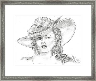 Olivia De Havilland Framed Print by Steven White