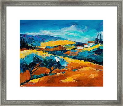 Oliviers En Provence Framed Print by Elise Palmigiani