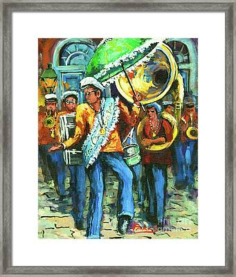 Olympia Brass Band Framed Print by Dianne Parks