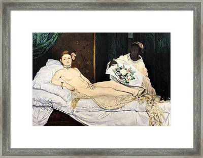 Olympia Framed Print by Edouard Manet