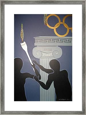 Olympic 2008 Framed Print by Ingrid Stiehler
