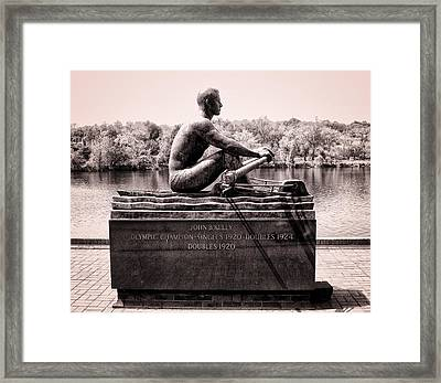 Olympic Champion - John B Kelly Framed Print by Bill Cannon