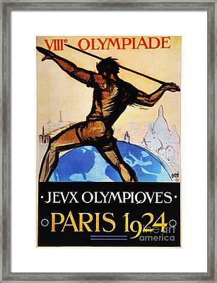 Olympic Games, 1924 Framed Print by Granger
