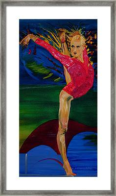 Olympic Gymnast Nastia Liukin  Framed Print by Gregory Allen Page