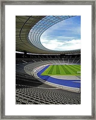Olympic Stadium - Berlin Framed Print by Juergen Weiss