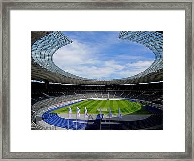 Olympic Stadium Berlin Framed Print by Juergen Weiss