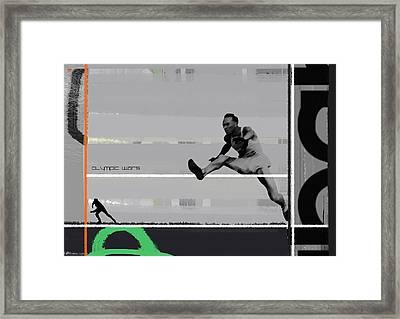 Olympic Wars Framed Print by Naxart Studio
