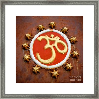 Om Framed Print by Dev Gogoi