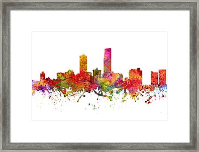 Omaha Cityscape 08 Framed Print by Aged Pixel