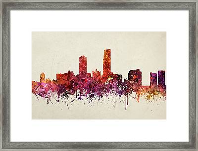 Omaha Cityscape 09 Framed Print by Aged Pixel