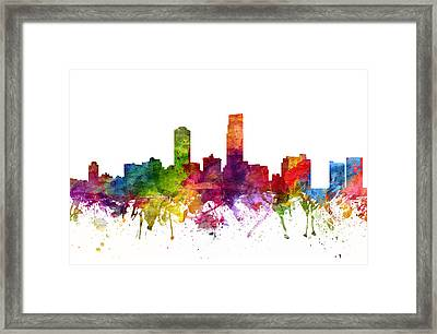 Omaha Cityscape 06 Framed Print by Aged Pixel