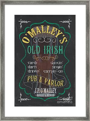 O'malley's Old Irish Pub Framed Print by Debbie DeWitt