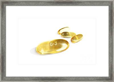 Omega 3 Fish Oil Tablets Framed Print by Jorgo Photography - Wall Art Gallery