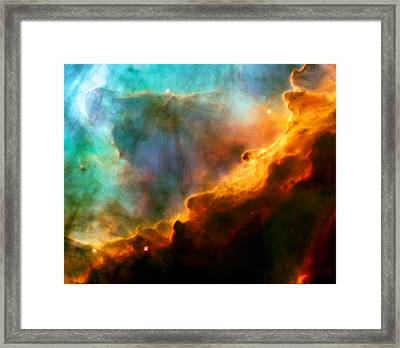 Omega Swan Nebula 3 Framed Print by The  Vault - Jennifer Rondinelli Reilly